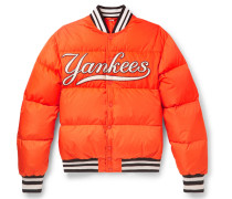 + New York Yankees Appliquéd Quilted Shell Down Jacket
