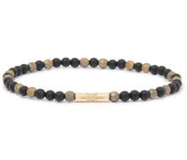 Bead and 14-Karat Gold Bracelet