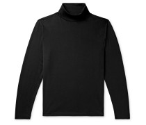 Pima Cotton-Jersey Rollneck T-Shirt