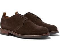 Wade Suede Derby Shoes - Dark brown