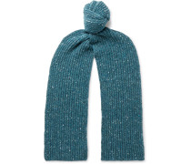 Ribbed Merino Wool and Cashmere-Blend Scarf