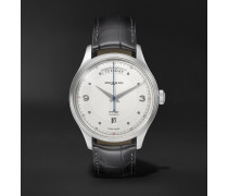 Heritage Automatic Day-Date 39mm Stainless Steel and Alligator Watch, Ref. No. 119947