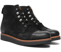 Newton Brushed-suede Boots