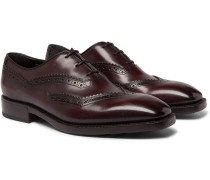 Venezia Leather Oxford Shoes - Burgundy