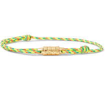 Love Lock Gold Cord Bracelet