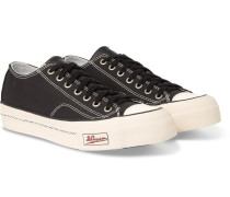 Skagway Leather-trimmed Canvas Sneakers - Black