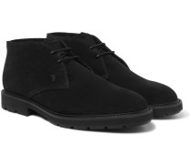 Shearling-lined Suede Chukka Boots