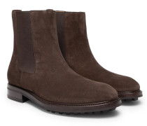 Suede Chelsea Boots - Brown