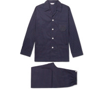 Nelson 72 Printed Cotton-Poplin Pyjama Set