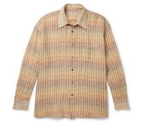 Borrowed Oversized Checked Linen Shirt