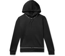 Zip-Detailed Tech-Jersey Hoodie