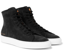 Tournament Waxed-suede High-top Sneakers