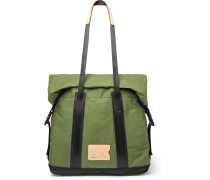 Barda Leather-Trimmed Waxed Cotton-Ripstop Tote Bag