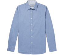 Brushed-cotton Shirt - Blue