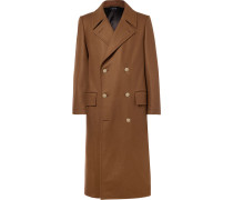 Slim-fit Double-breasted Stretch Wool And Cashmere-blend Overcoat