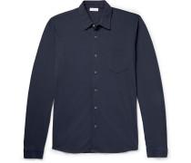 Pima Cotton-piqué Shirt - Navy