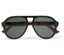 Aviator-style Acetate Sunglasses