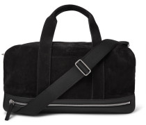 Leather-trimmed Suede Holdall