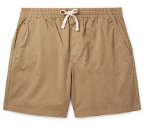 Dock Garment-Dyed Stretch-Cotton Drawstring Shorts