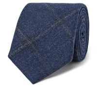 8.5cm Checked Wool, Silk And Cashmere-blend Tie