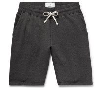 Loopback Cotton-jersey Drawstring Shorts - Dark gray