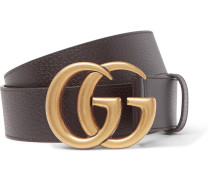 4cm Dark-brown Full-grain Leather Belt
