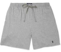 Cotton-jersey Pyjama Shorts - Gray