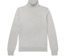 Slim-Fit Cashmere and Silk-Blend Rollneck Sweater