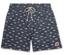 Vacation Mid-length Cotton-blend Swim Shorts