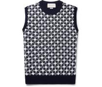 Logo-jacquard Wool Sweater Vest