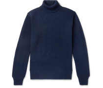 Knitted Rollneck Sweater - Navy