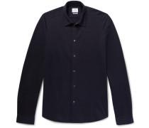 Slim-fit Cotton-blend Piqué Shirt