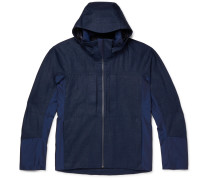 George Panelled Linen and Wool and Nylon-Blend Hooded Jacket