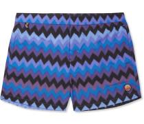 Mid-length Printed Swim Shorts