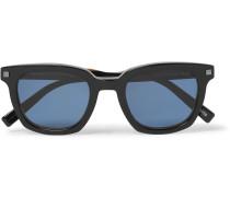 Square-frame Acetate Polarised Sunglasses - Black