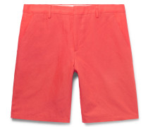 Slim-fit Cotton And Linen-blend Shorts