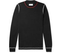 Slim-fit Wool-blend Sweater - Black