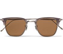 Square-frame Acetate And Silver-tone Sunglasses