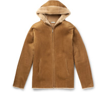Shearling Hooded Jacket - Sand