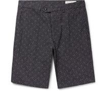 Julian Slim-fit Cotton-jacquard Shorts