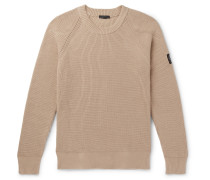 Ribbed Cotton Sweater - Beige