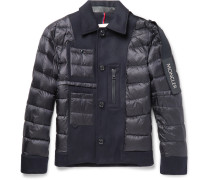 Padded Virgin Wool And Shell Down Jacket