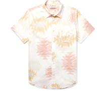 Essential Printed Slub Organic Cotton And Hemp-blend Shirt - Off-white