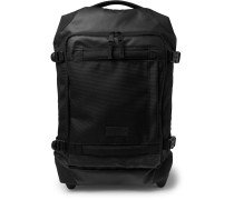 Tranverz Small 51cm Leather-Trimmed Canvas Carry-On Suitcase