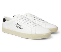 SL/06 Court Classic Logo-Embroidered Leather Sneakers