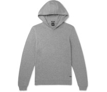 Wool, Cotton And Cashmere-blend Hoodie - Light gray