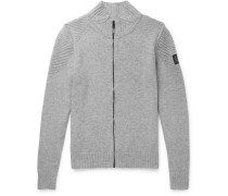 Renhold Slim-fit Wool And Cashmere-blend Zip-up Cardigan