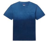 Indigo-Dyed Printed Slub Cotton-Jersey T-Shirt
