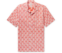 Slam Camp-collar Printed Cotton Shirt - Red