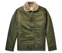 Shearling-lined Nylon Jacket